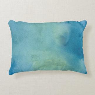 Blue & Green Marble Watercolour Decorative Cushion
