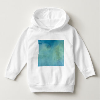 Blue & Green Marble Watercolour Hoodie