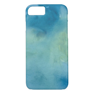 Blue & Green Marble Watercolour iPhone 8/7 Case