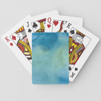 Blue & Green Marble Watercolour Playing Cards