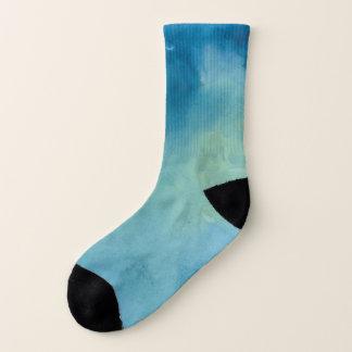Blue & Green Marble Watercolour Socks