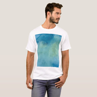 Blue & Green Marble Watercolour T-Shirt