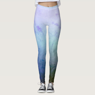 Blue, Green , Melody Mood Custom Leggings