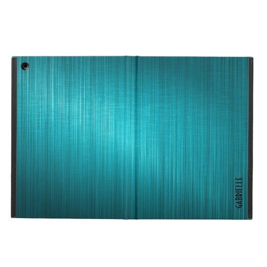 Blue-Green Metallic Design Brushed Aluminium Look iPad Air