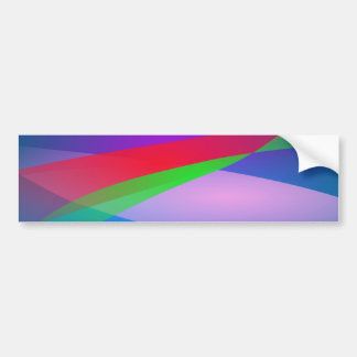 Blue Green Minimalism Abstract Art Bumper Sticker
