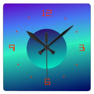 Blue Green Moon Illuminated Design>Wall Clock