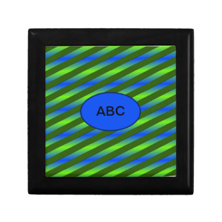 Blue Green Neon Small Square Gift Box
