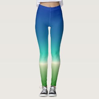 Blue-Green Ocean Gradient Leggings