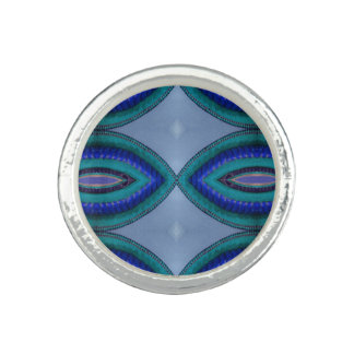 Blue Green Oval Abstract