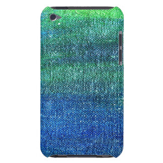 Blue green painted canvas barely there iPod case