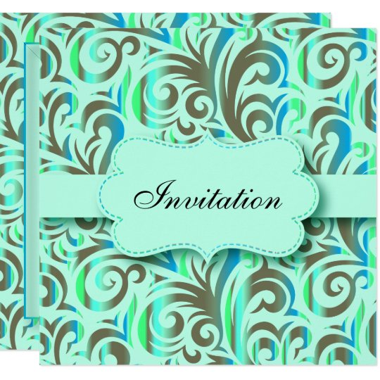 Blue & Green Pattern Party Celebration | DIY