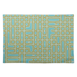 Blue Green Pattern Placemat