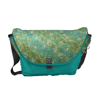 Blue Green Pattern Rickshaw Messenger Bag