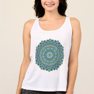 Blue Green Peace Mandala Sport Tank