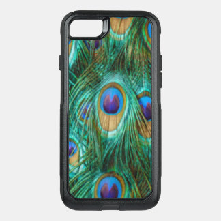Blue Green Peacock Feathers OtterBox Commuter iPhone 8/7 Case