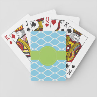 Blue Green Personalized Playing Cards