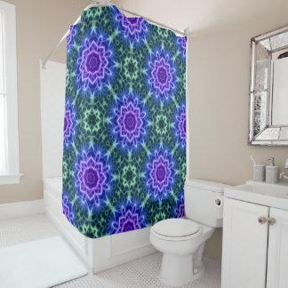 Blue Green Pink Kaleidoscope Mandala Pattern Shower Curtain