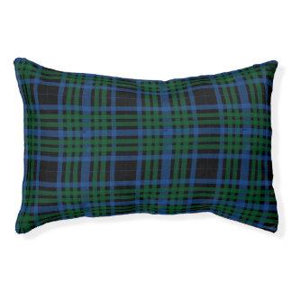 Blue & Green Plaid Pet Bed