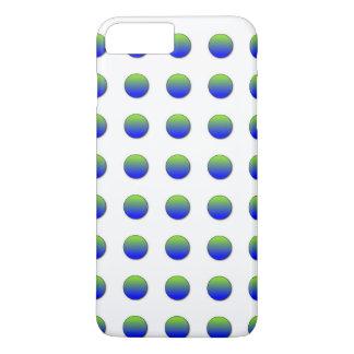 Blue Green Polka Dots iPhone 7 Plus Case