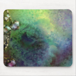 Blue Green Pond Mouse Pad