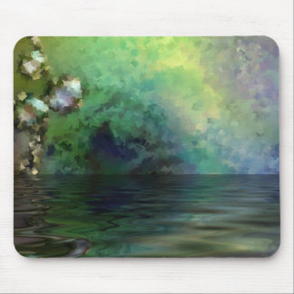 Blue Green Pond with Reflection Mousepads