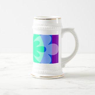 blue green purple flower coffee mugs