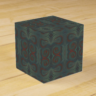 blue green red paint swirls gift box favour boxes