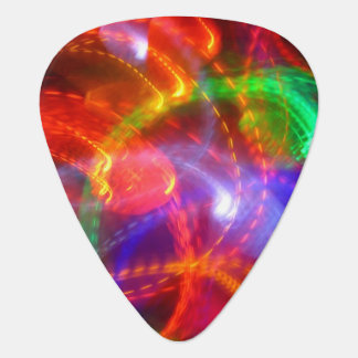 Blue Green Red Yellow Abstract Guitar Pick