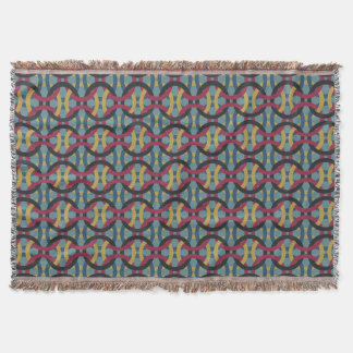 Blue Green Rings Red Yellow Black Throw Blanket