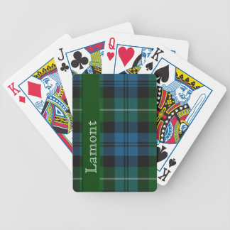 Blue & Green Scottish Tartan Plaid Playing Cards