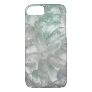 Blue-Green Sea Glass and Starfish Beach iPhone 8/7 Case
