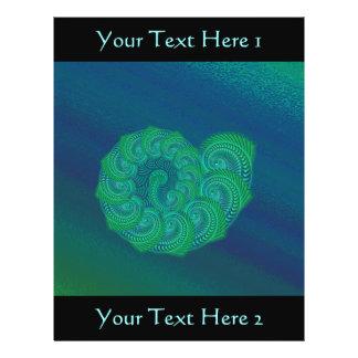 Blue, Green Shell. Abstract Art Design. 21.5 Cm X 28 Cm Flyer