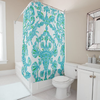 Blue/green Shower Curtain