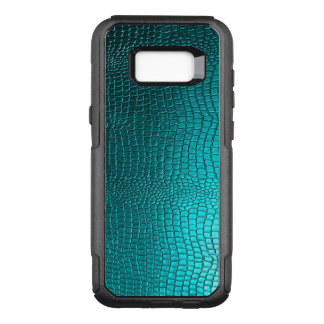 Blue-Green Snakeskin Leather OtterBox Commuter Samsung Galaxy S8+ Case