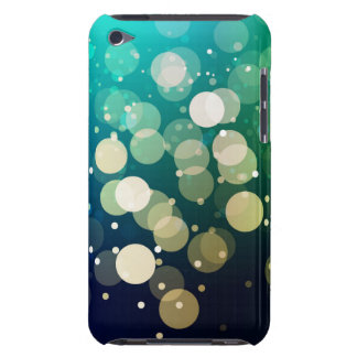 Blue/Green Sparkles Light Design iPod Case-Mate Case