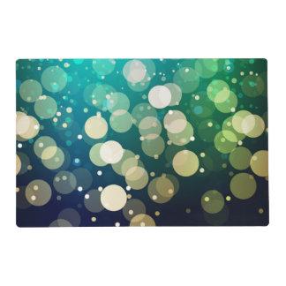 Blue/Green Sparkles Light Design Laminated Place Mat