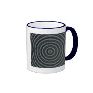 Blue Green Spiral Mug