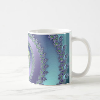 Blue/Green Spiral (Mug) Basic White Mug