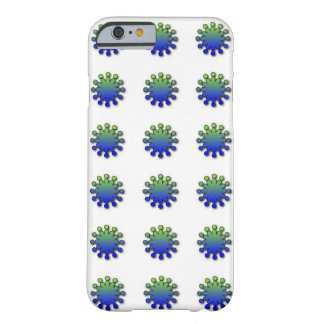 Blue Green Splash Barely There iPhone 6 Case