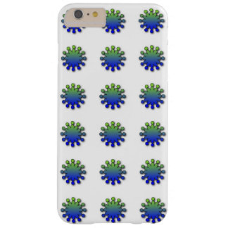 Blue Green Splash Barely There iPhone 6 Plus Case