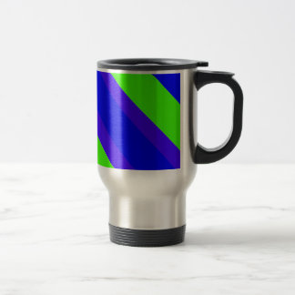 Blue Green Stripes Coffee Mug
