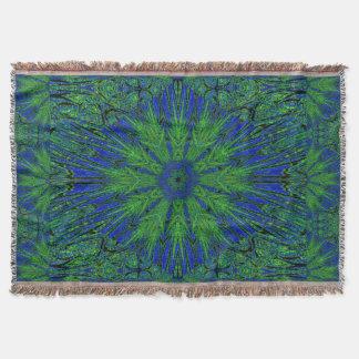 Blue Green Summer Throw Blanket