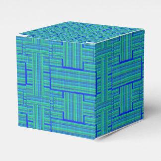 blue green tartan gift box