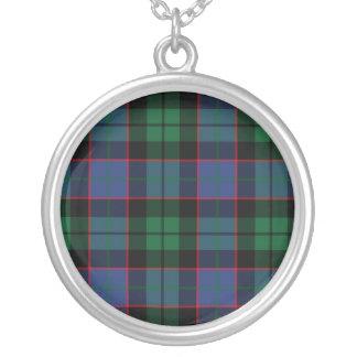Blue Green Tartan Necklace