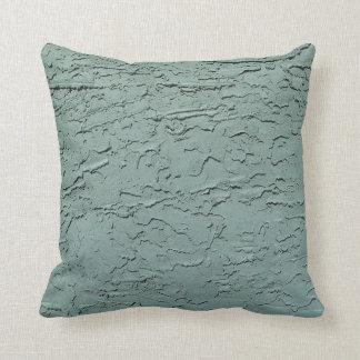 Blue Green Textured Pillow