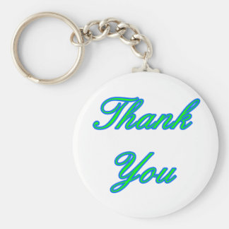 Blue Green Thank You Design The MUSEUM Zazzle Gift Key Chain