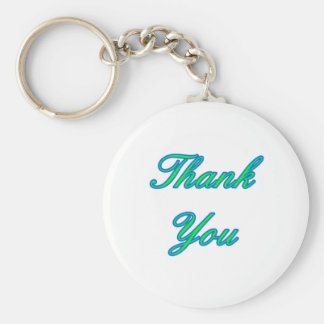 Blue Green Thank You Design The MUSEUM Zazzle Gift Key Chains