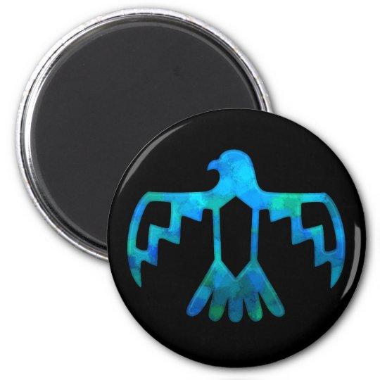 Blue-Green Thunderbird Magnet
