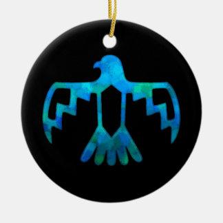 Blue-Green Thunderbird Ornament