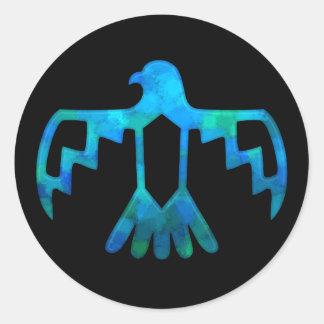 Blue-Green Thunderbird Sticker